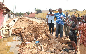 File photo - Officials of Ga Central Municipal Assembly inspecting project works