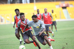 Black Stars training on Tuesday was hectic