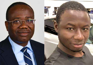 Former GFA President, Kwesi Nyantakyi and Investigative journalist Ahmed Hussein Suale