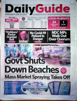 Stories making headlines on the front pages in the major newspapers