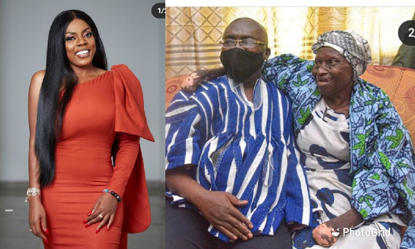 Broadcast Journalist Nana Aba Anamoah is happy about the Veep's kindness to the old woman