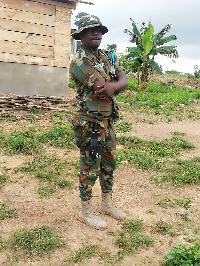 Anthony Nana Wiafe poses as a soldier to allegedly defraud some residents of Nsawam