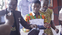 Abraham Attah thanked Toms for the opportunity to give 10,000 shoes to needy in Ghana.