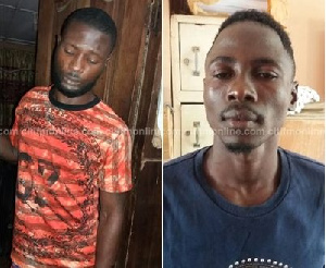 Atta Kwadwo (L) and Prince Osei (R) pleaded guilty to the charges leveled against them