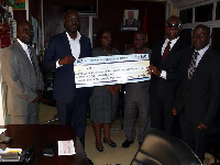 SIC Insurance Company Limited has presented a cheque of GHC1,674,721.20 to gov't
