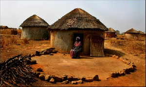 File photo of a witch camp in Northern Ghana