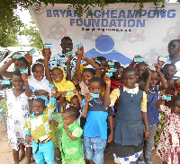Some of the children with their NHIS cards