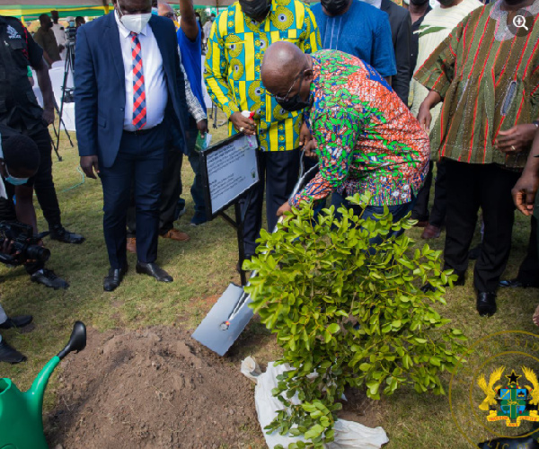 Meaning of fabric Akufo-Addo wore for 'Green Ghana' tree planting event. 53