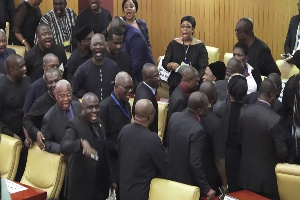 The Minority walked out from Parliament
