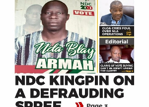 Samuel Nda Blay Armah allegedly defrauded some persons with the promise to get them employed