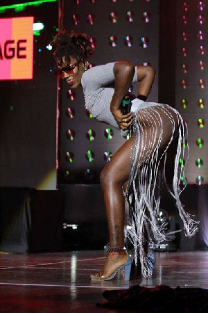 Ebony's outfit on stage at the 2017 4syte TV Music Video Awards