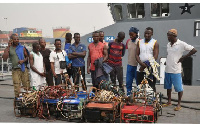 Some arrested fishermen caught by the Easter Naval Command
