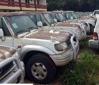 The 86 vehicles were brought in to be used by District Chief Executives across the country