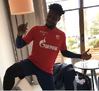 Richmond Boakye showing off dance moves