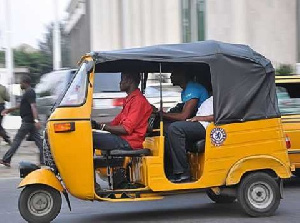 A photo of a tricycle, otherwise known as pragyia