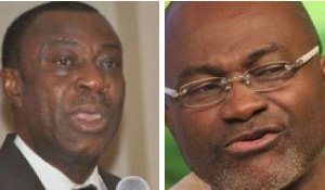 Dr. Anthony Akoto Osei, Tafo-Pankrono const. MP and Kennedy Agyapong, MP for Assin Central const.