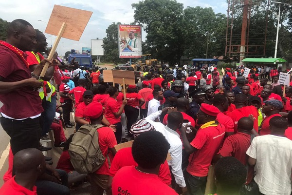 Protesters rally to register their displeasure at government