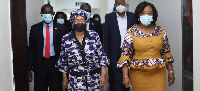 Sirleaf Johnson (R) leads the mission ECOWAS Observer Mission in the December polls