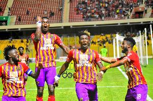 Goals from Salifu Ibrahim and Benjamin Afutu secured Hearts the maximum points