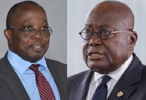 President Nana Addo Dankwa Akufo-Addo and Daniel Yao Domelevo