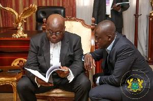 President Akufo-Addo and Eugene Arhin