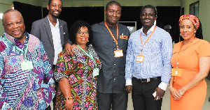 David Asante ( second from right), Nana Akomea (next to David Asante) in a group of photo