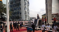 President Nana Addo Dankwa Akufo-Addo laying a wreath