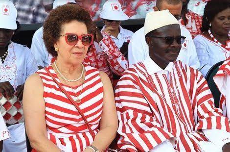 Dr. Papa Kwesi Nduom with his wife, Yvonne Nduom