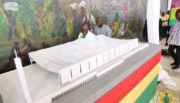 President Akufo-Addo at the unveiling of the National Cathedral master plan