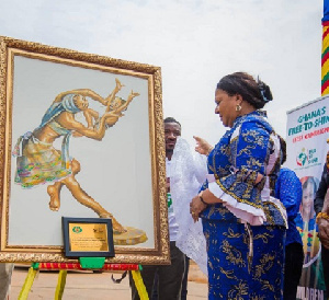 First Lady, Mrs. Rebecca Akufo-Addo launching the 'Free to Shine Campaign'