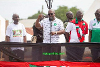 John Mahama at one of the rallies of the NDC in the lead up to the 2016 polls
