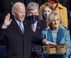 Joe Biden taking his Oath of Office as the 46th President of the United States of America