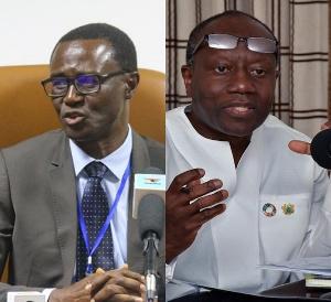 GRA Boss, Ammishaddai Owusu-Amoah and Finance Minister, Ken Ofori-Atta