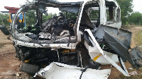 Ebony died in a collision, Thursday, Photo of her mangled car