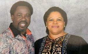 T.B Joshua and his wife Evelyn Joshua