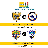 The semi-final matches would be played at the Cape Coast Sports Stadium