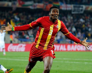 Black Stars striker, Asamoah Gyan