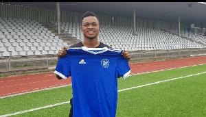 Cheetah FC player, Emmanuel Toku