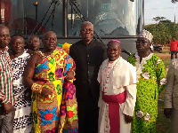 Vice President Kwesi Amissah-Arthur with the chiefs of Ntotrosu Traditional Area
