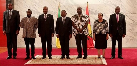 President of Mozambique and Ghana