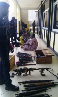 File photo of Seized Arms