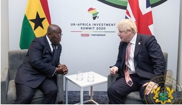 President Akufo-Addo with UK Prime Minister, Boris Johnson