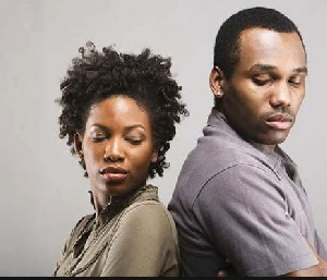 Angry African Couple Relationship