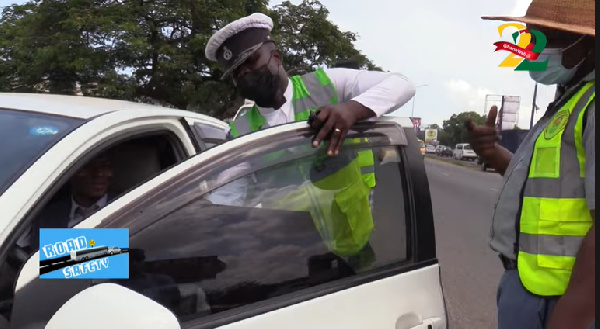 GhanaWebRoadSafety: These drivers were \'hot\' when DVLA, MTTD officers hit the roads for random inspection