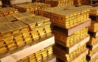 File photo: Gold bars