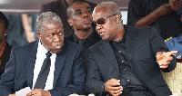 Former Vice President Amissah-Arthur and his Boss, John Dramani Mahama