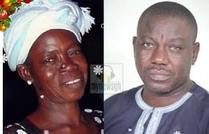Isaac Adongo and Late mum