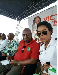 Mzbel and former President Mahama
