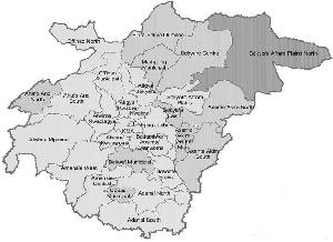 District Map Of Ashanti Region Ghana Ghana Statistical Service 2015