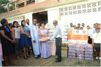 Mr and Mrs Owusu-Koranteng donate to Akropong School of the blind